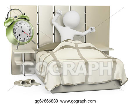 transparent D white people wake. Waking clipart good morning