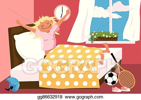 graphic stock Vector art eps gg. Waking clipart good morning