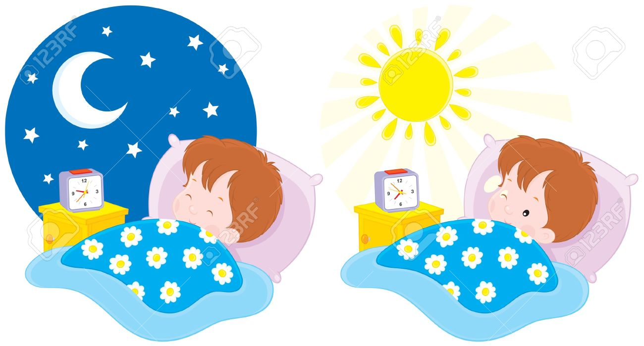 royalty free Waking clipart morning evening. Transparent free