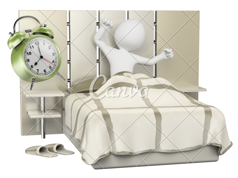 banner freeuse download Waking clipart morning time.  d white people.