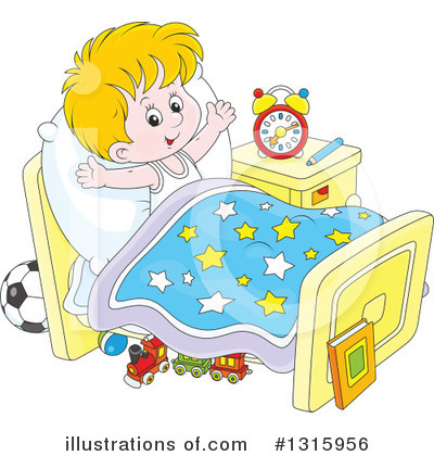 clip art royalty free library Waking clipart morning time. Up illustration by toonaday.