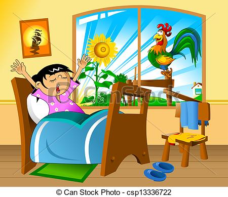 png download . Waking clipart morning time.