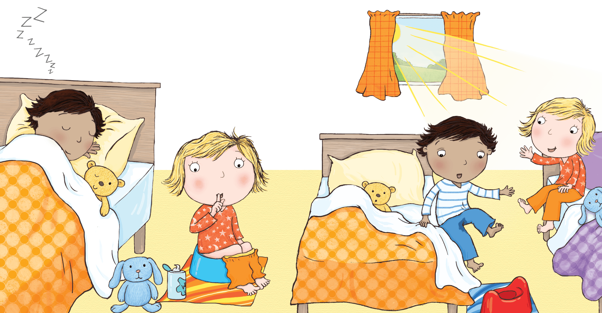 svg royalty free library Waking clipart nights. Night time potty training.