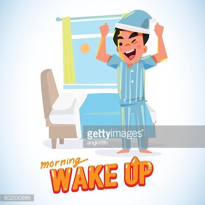 jpg stock Waking clipart refreshed. Up man in the