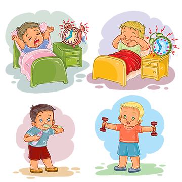 clipart library stock Waking clipart morning. Wake png vectors psd.