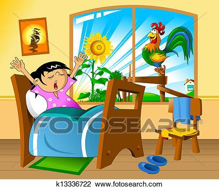clip library library Wake up portal . Waking clipart early.
