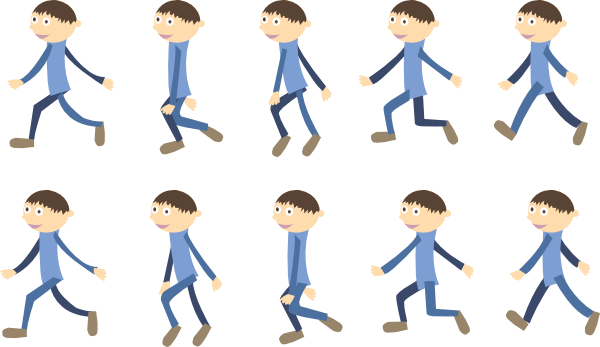 clip royalty free stock Walk clip art at. Group walking clipart.