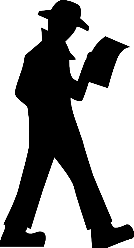 vector stock Clipart person walking. Black and white panda.