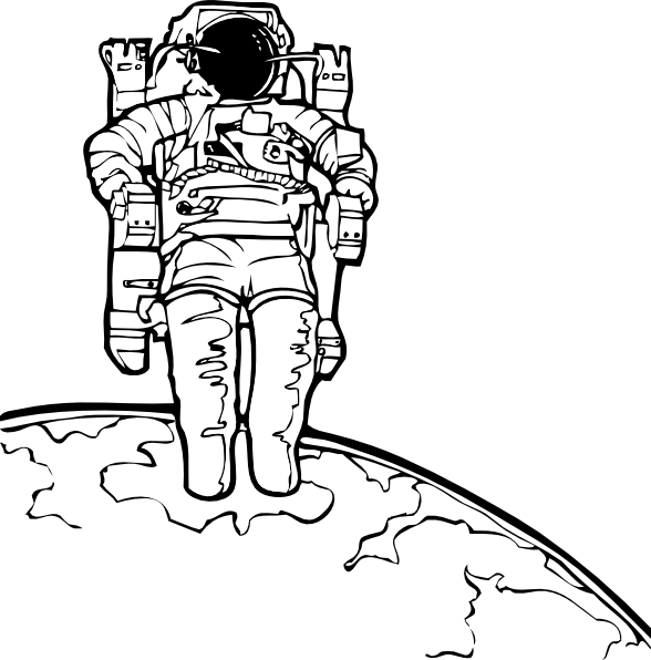 png stock Walking clipart black and white. Space walk clip art