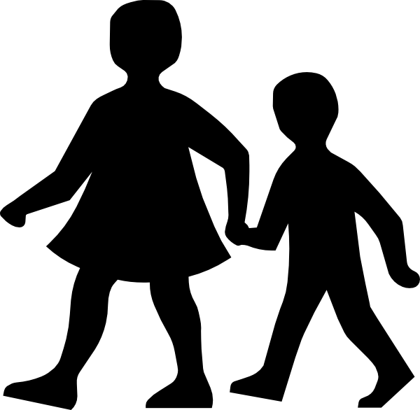 banner free library Couple walking clipart. Parent and son clip.