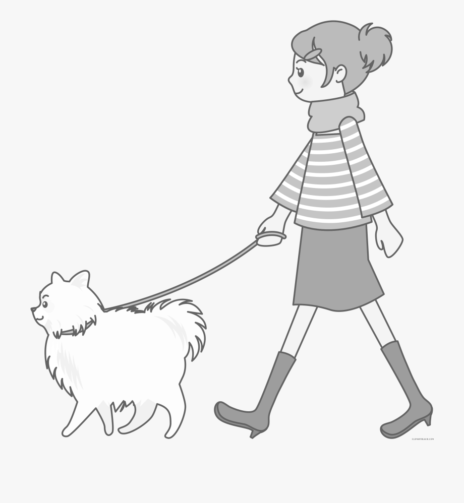 vector library stock Dog walk the free. Walking dogs clipart.