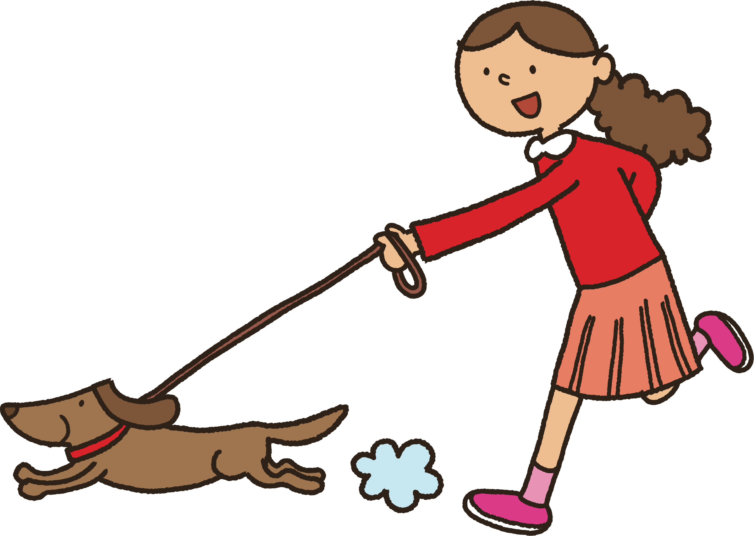 graphic black and white Walking a dog clipart. The big image png