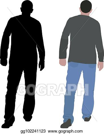 vector free library Walking away clipart. Vector stock illustration