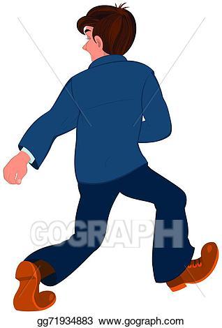 image royalty free stock Walking away clipart. Vector art cartoon man.