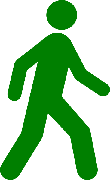 clip transparent stock Walking clipart. Man green clip art