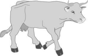 clip art transparent stock Walking clipart. Gray cow clip art