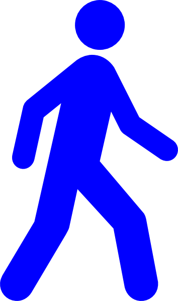 vector free Nice design blue cilpart. Man walking clipart