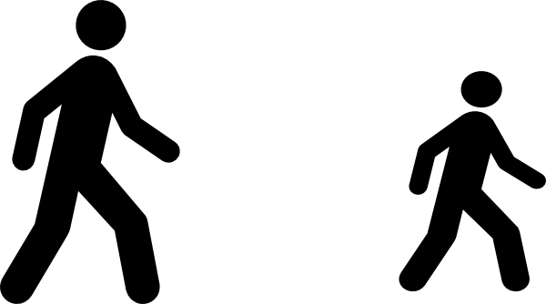 svg black and white download Clipart person walking. Man clip art at.