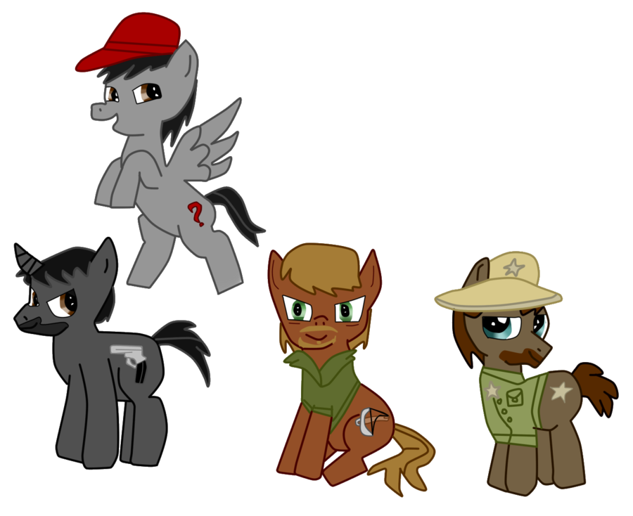 clipart royalty free stock Walking dead clipart. The ponies by thestalkerific