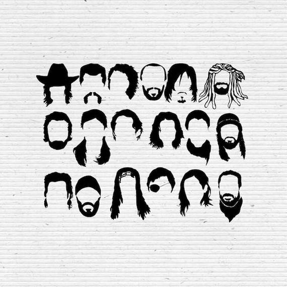 image black and white stock Walking dead clipart. The faces svg cut