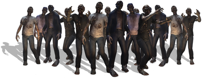 graphic stock Walking dead clipart. Group people png gallery