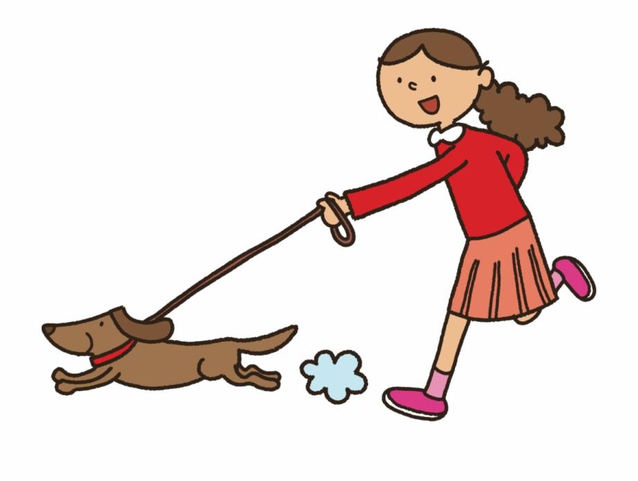 jpg library Puppy child cartoon walk. Walking dog clipart