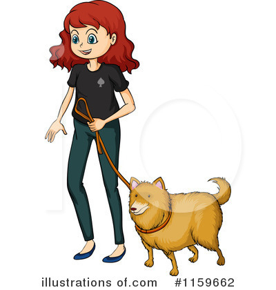clipart transparent library Walking dog clipart. Illustration by graphics rf.