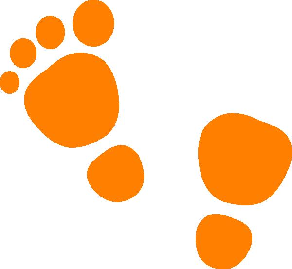 clipart library Orange clip art at. Walking feet clipart.