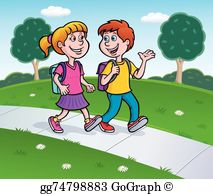png freeuse Walking home clipart. From school portal