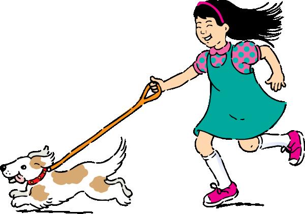svg Dog clip art at. Walking home clipart
