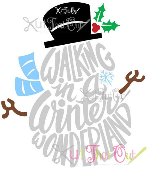 svg free Walking in a winter wonderland clipart. Exclusive snowman svg dxf