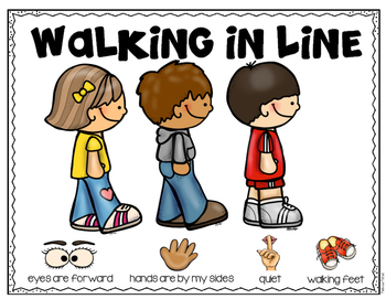 svg library download Emergent reader and visuals. Walking in line clipart.