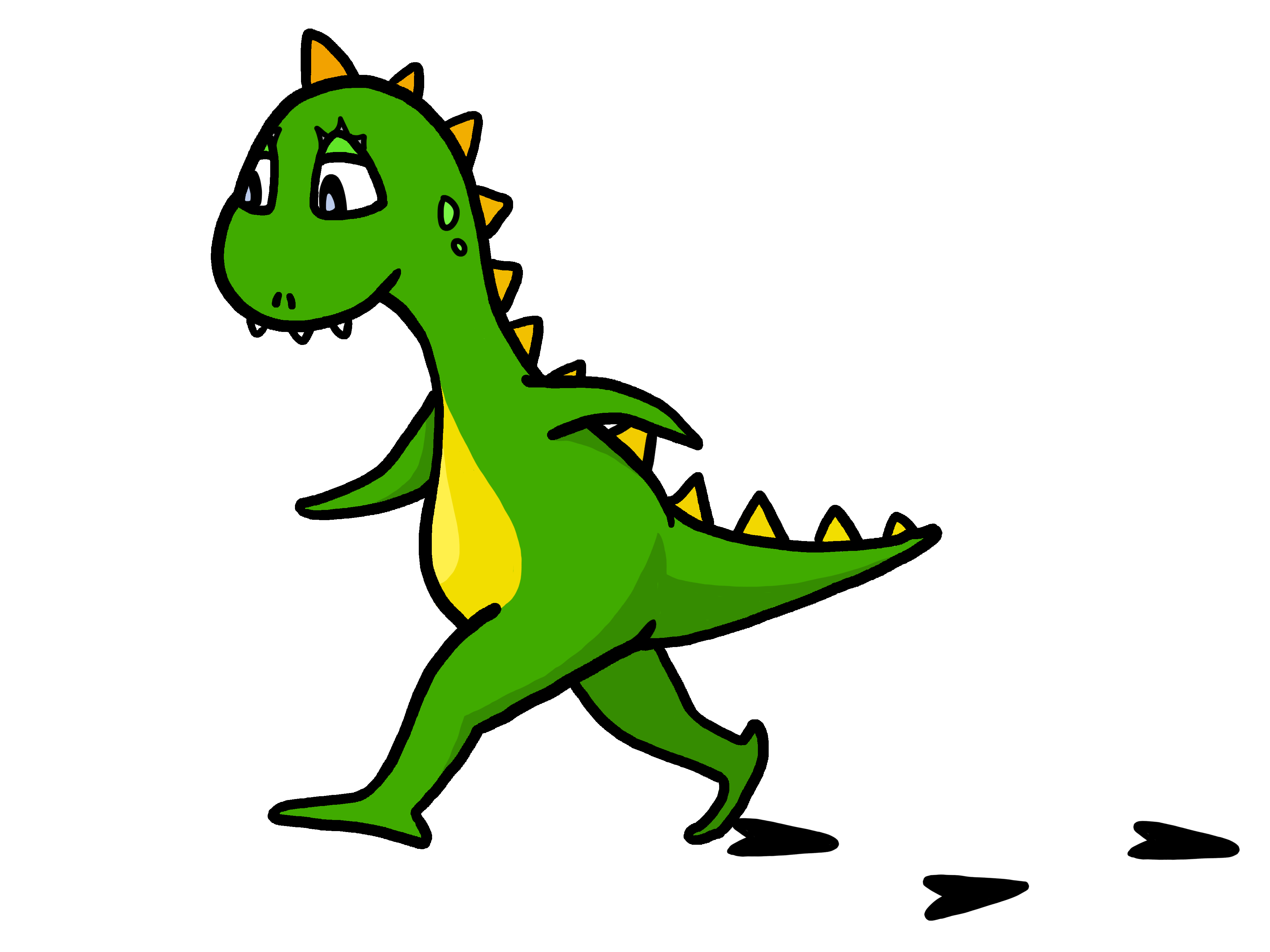 png transparent download Walking in line clipart. Funny dinosaur free image.