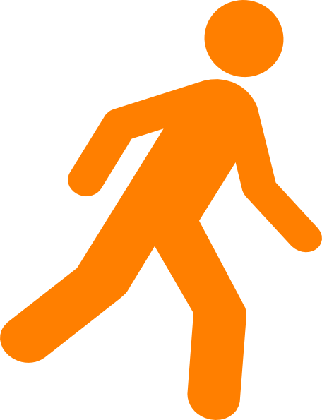 graphic freeuse download Walking man clipart. Black clip art at