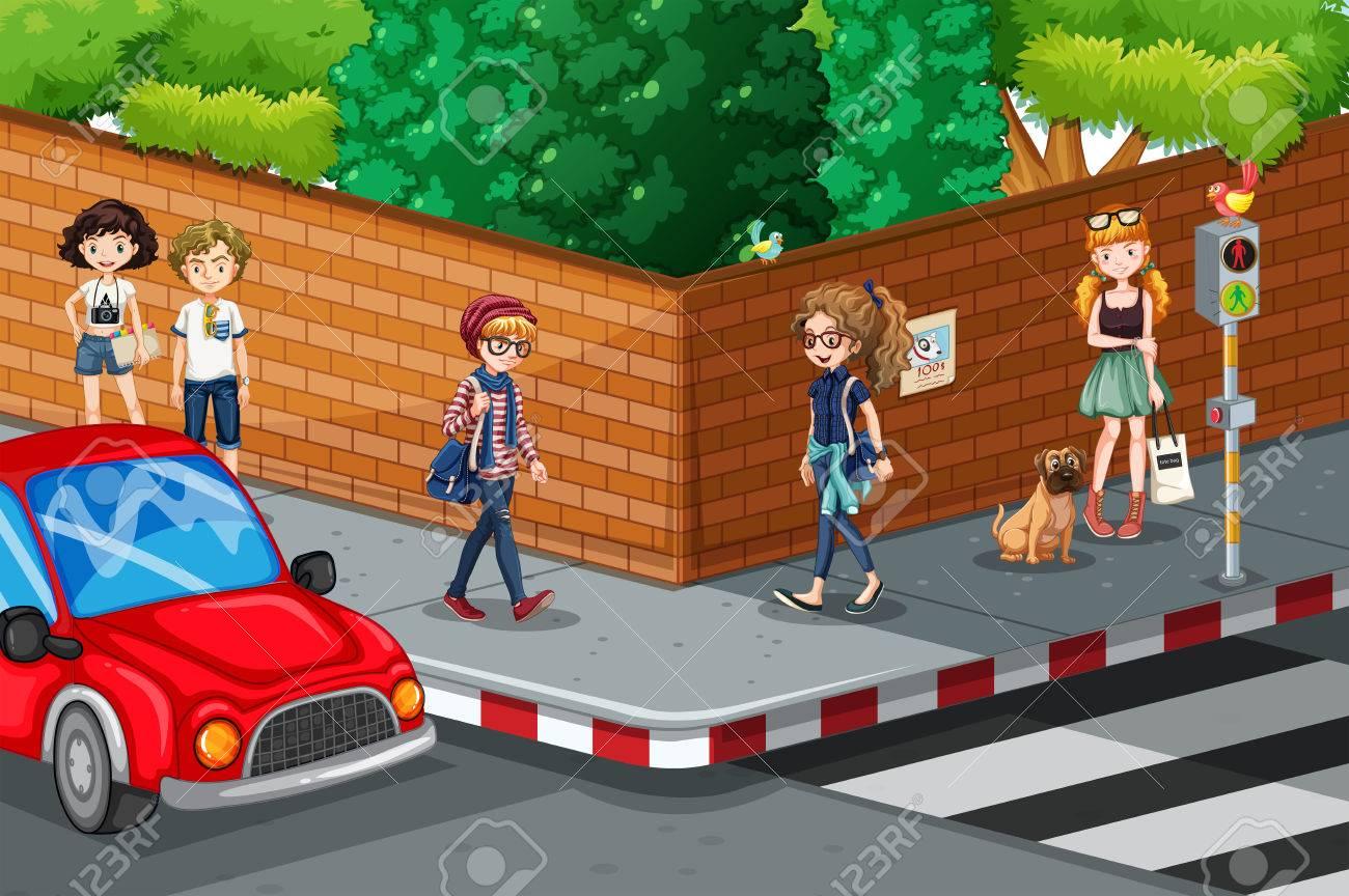 banner free download Road x free clip. Walking on sidewalk clipart
