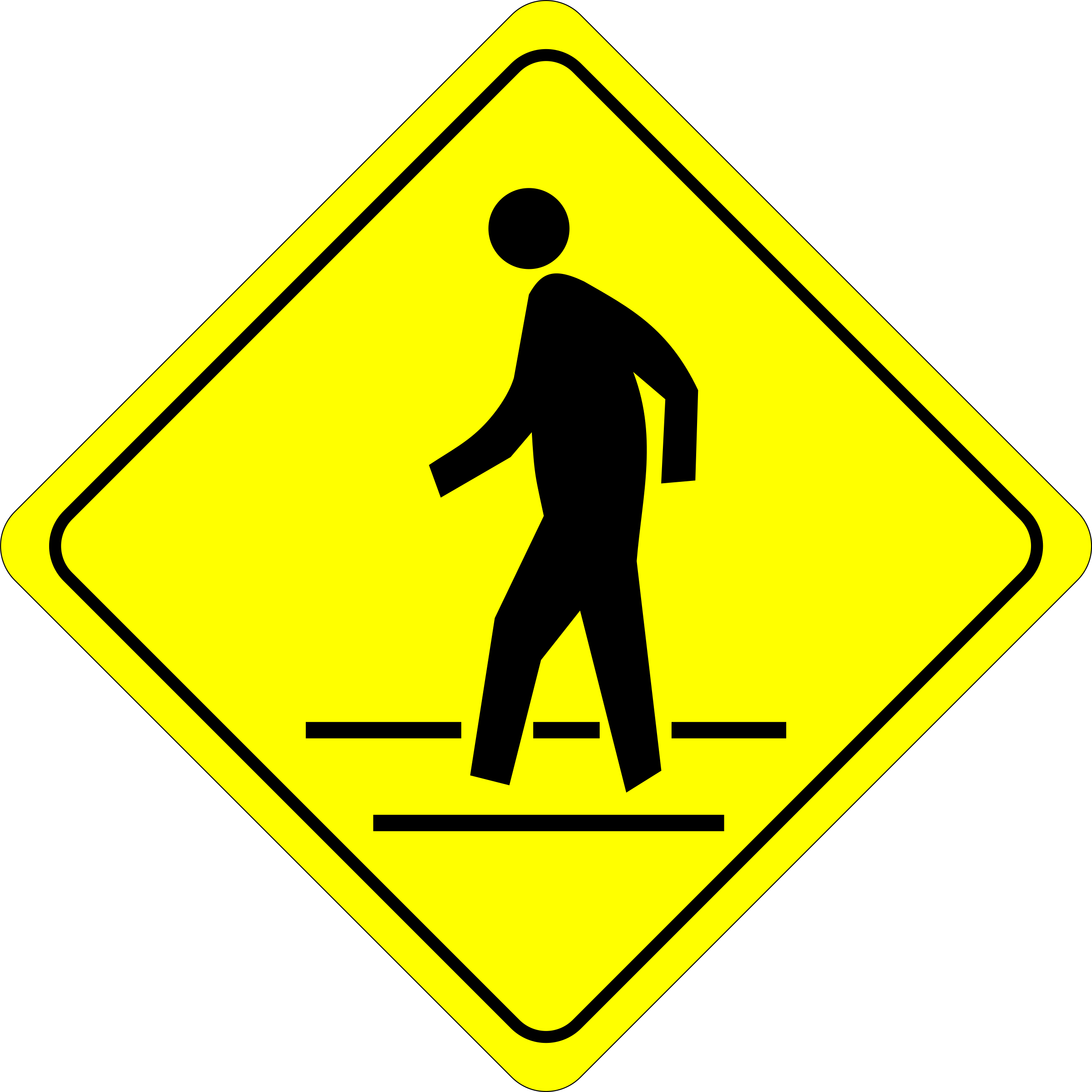image free Walking on the sidewalk clipart. How to stay safe.