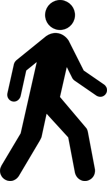 vector library stock Walking stick clipart. Man black clip art