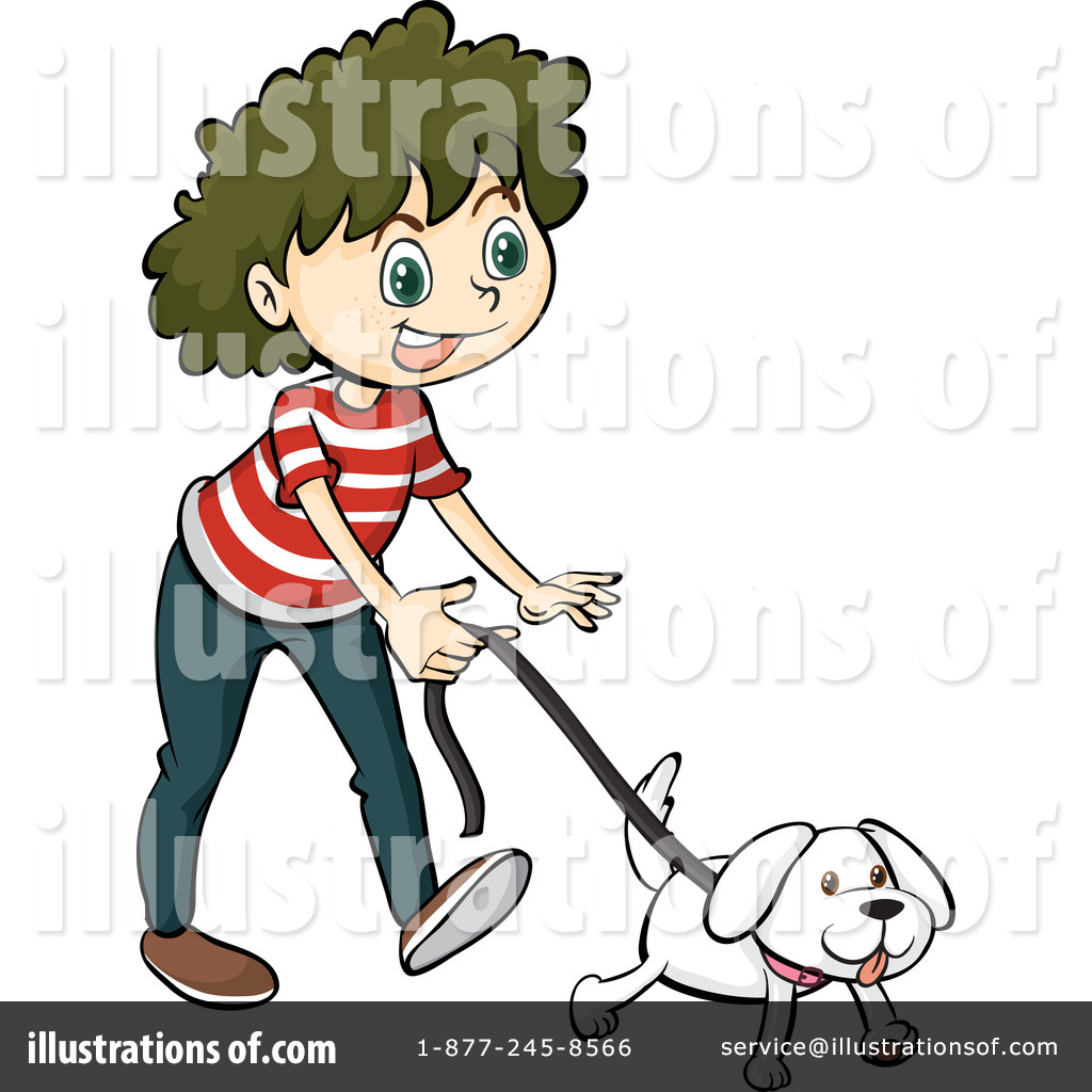 picture black and white stock Walking the dog clipart. Illustration by graphics rf.