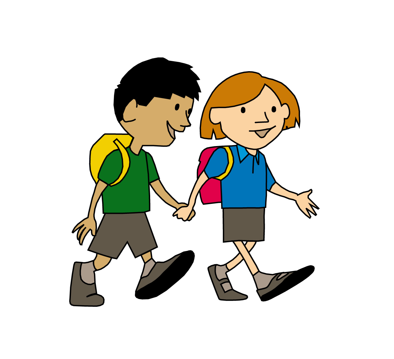 picture free stock Walking to school clipart. Walk woodborough primary .