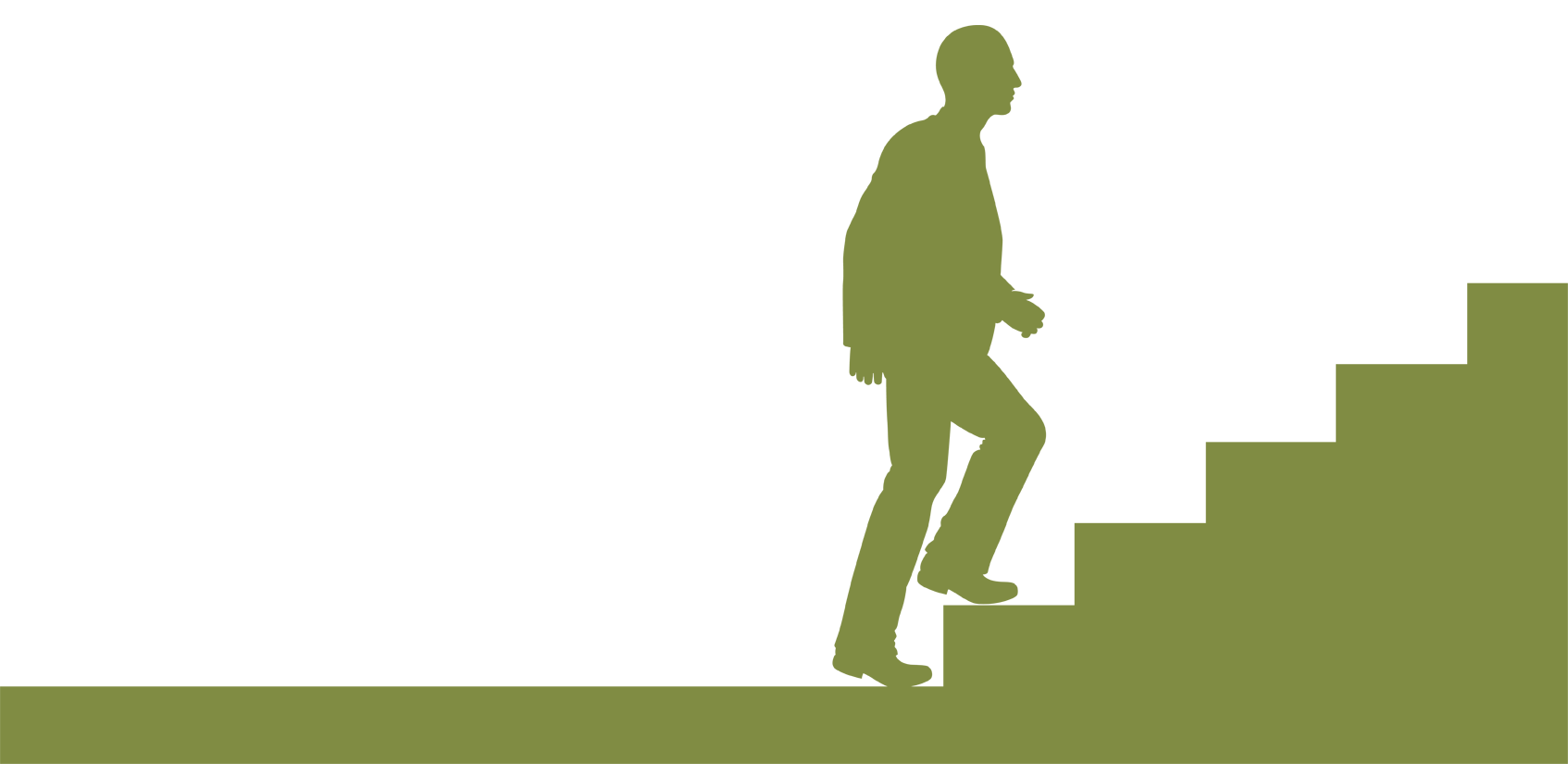 svg transparent download Walking up stairs clipart. Silhouette at getdrawings com.