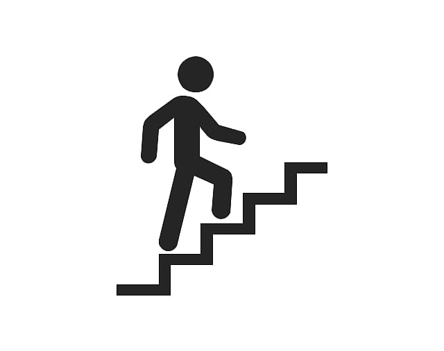 clip art download On stair climbing someone. Walking up stairs clipart.