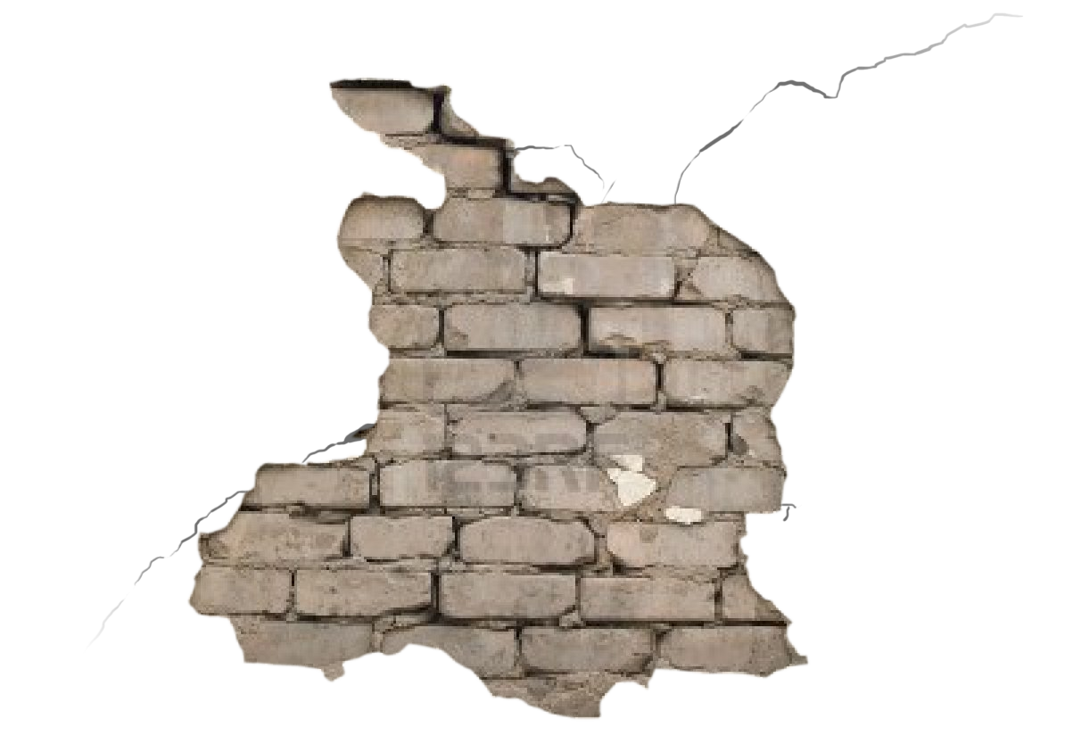 vector free stock Transparent background pinterest. Cracked brick wall clipart.