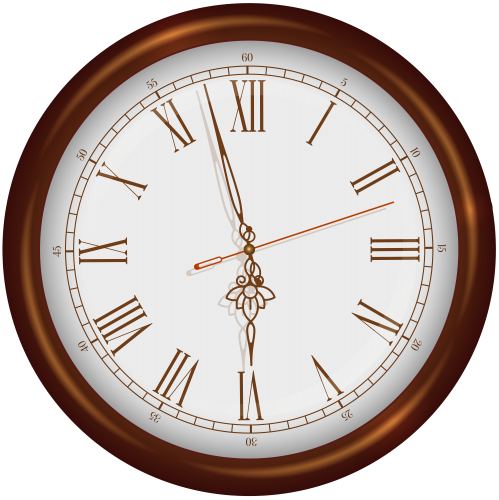 banner free library Brown clock png clip. Wood wall clipart.