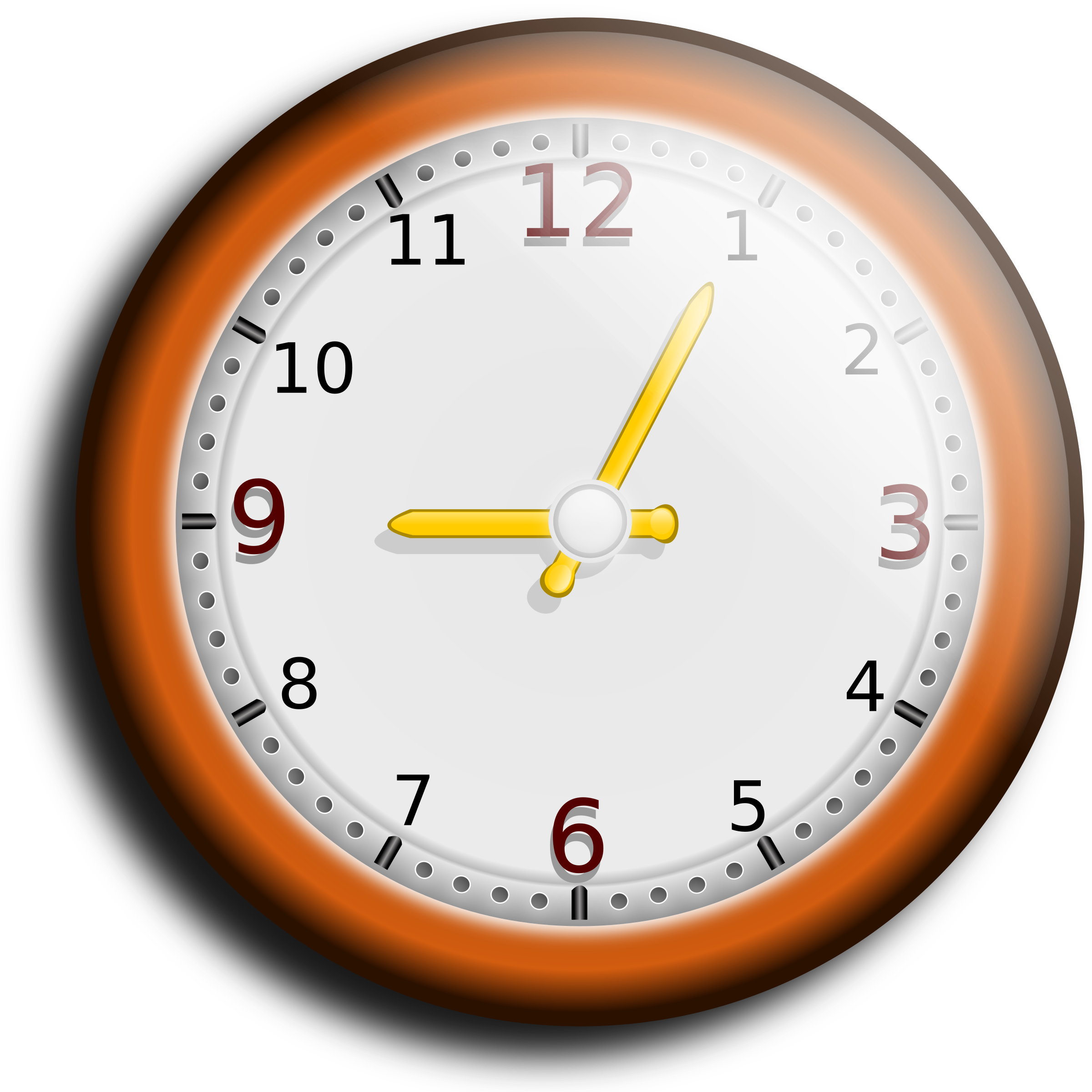 royalty free stock Wall clock clipart.