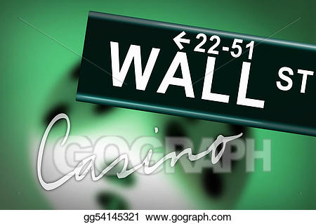 svg black and white stock Wall street clipart. Stock illustration casino .