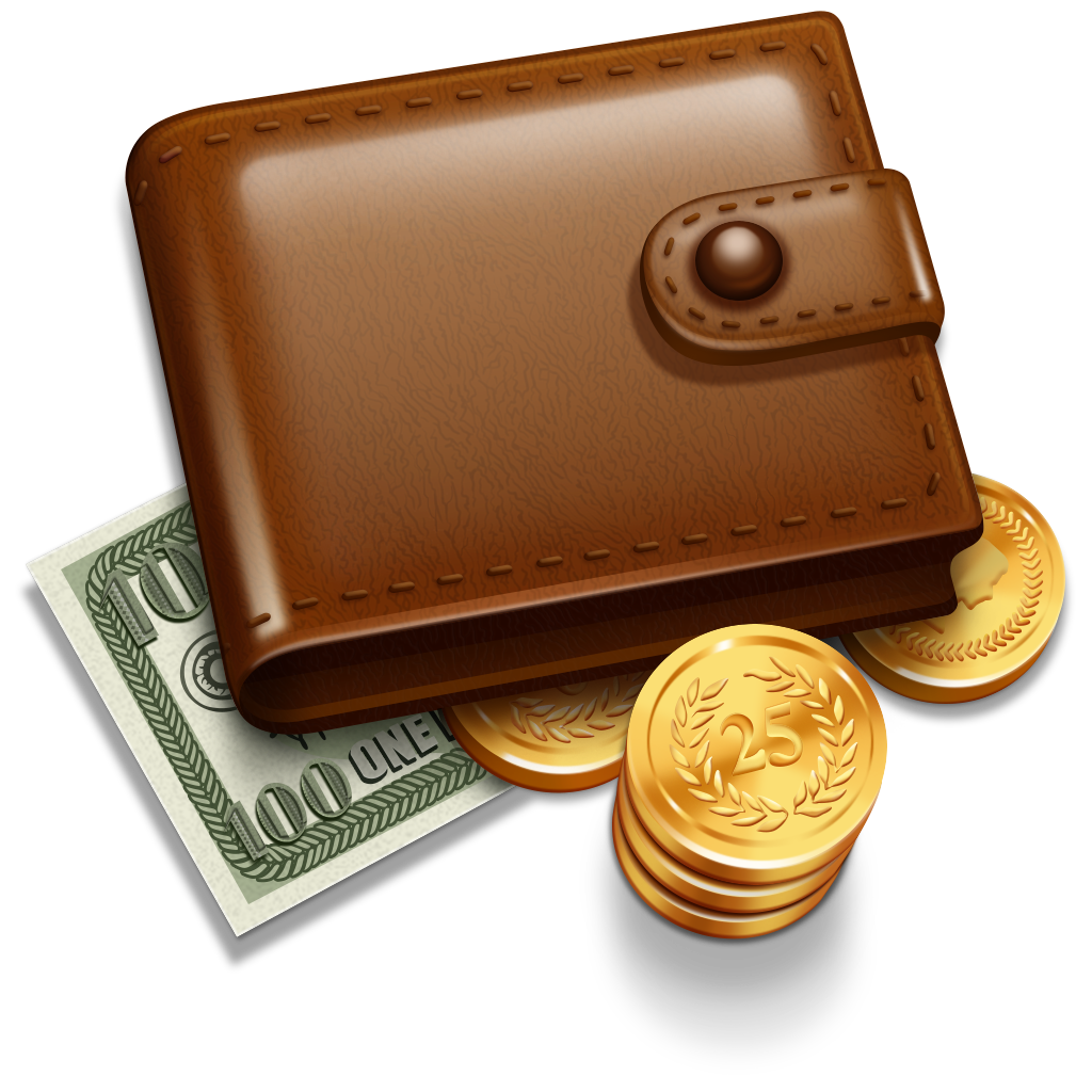 clip art free library Wallet drawing money coin. With five isolated stock