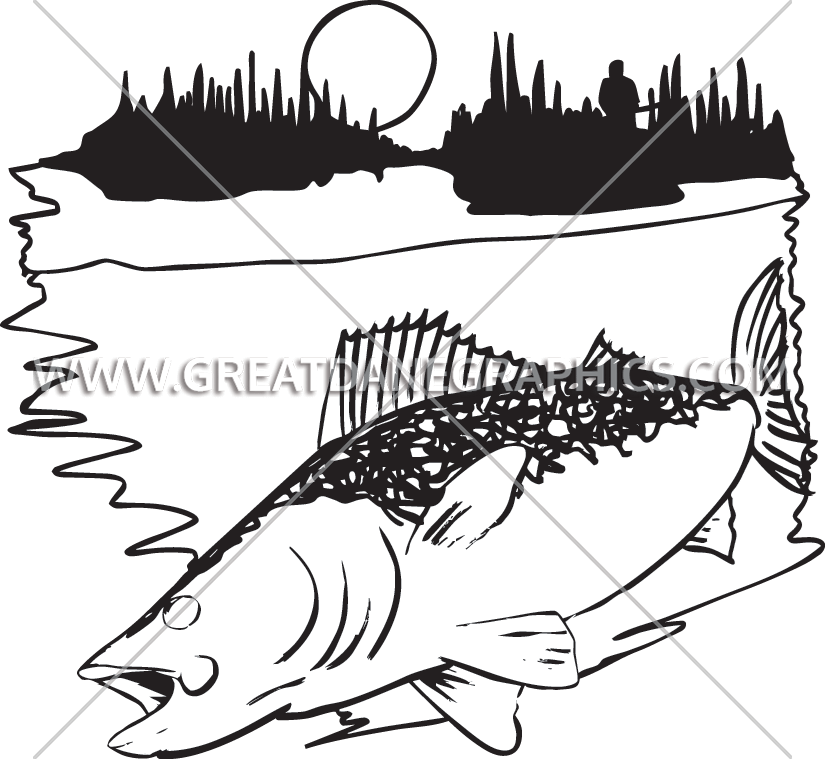 image library stock Walleye drawing. Production ready artwork for.