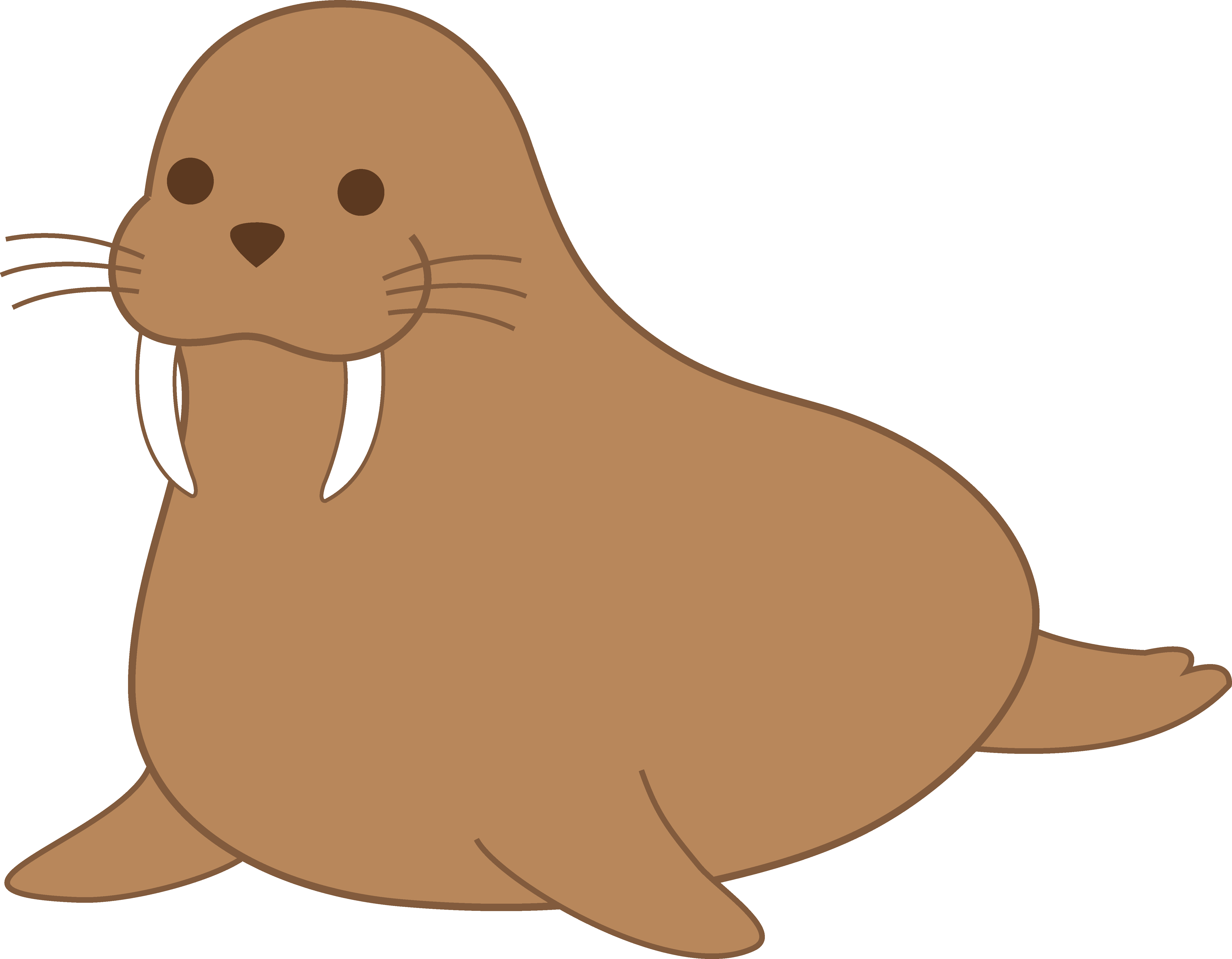 png freeuse download Top clip art free. Walrus clipart