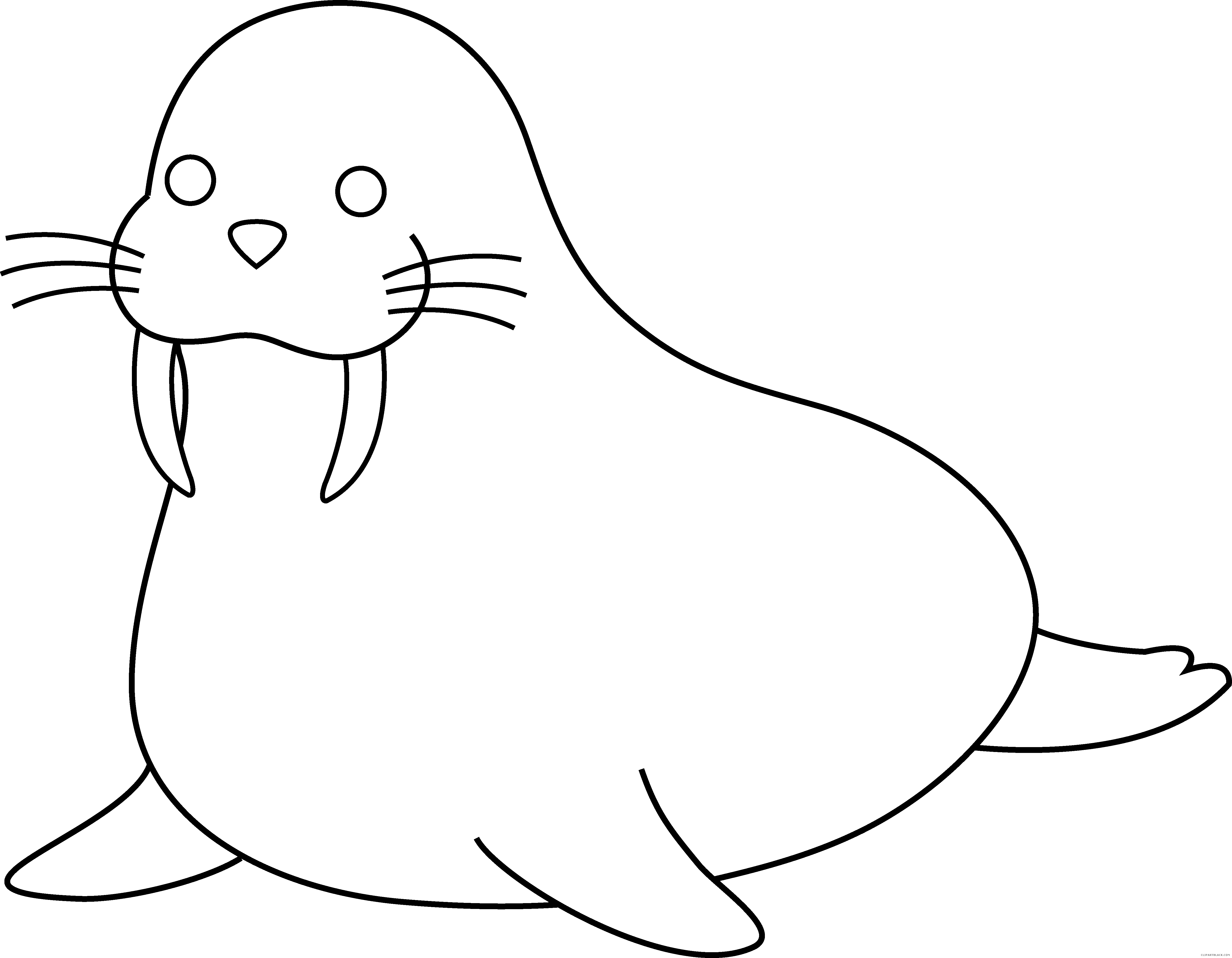 jpg black and white library Free on dumielauxepices net. Walrus clipart grey thing