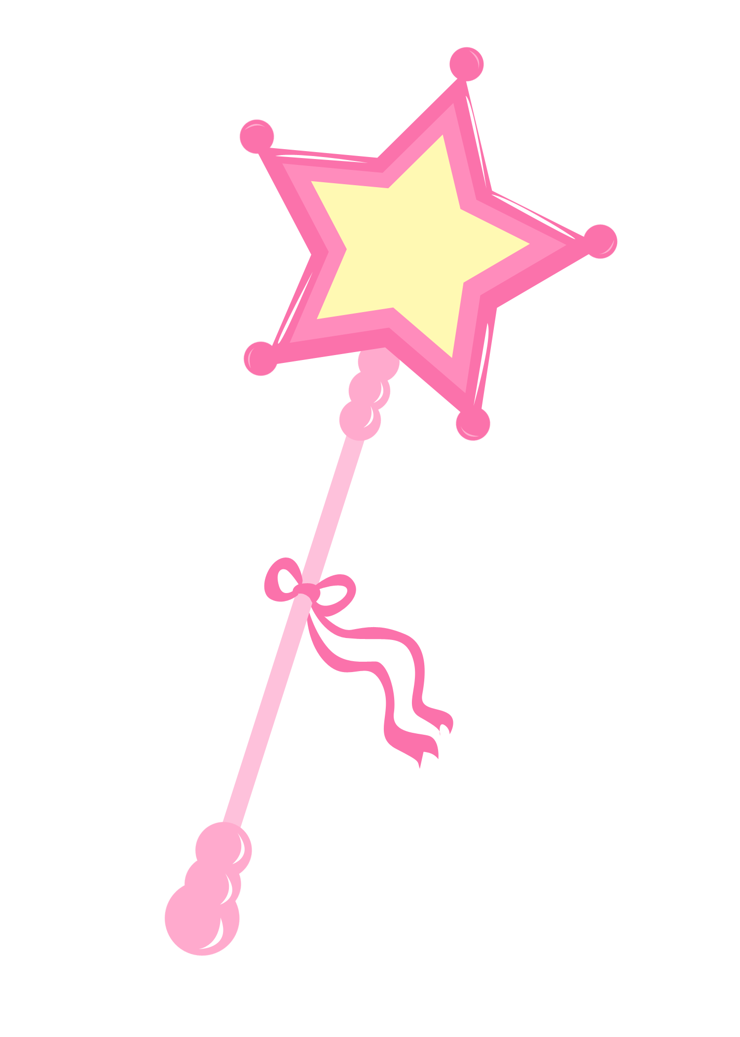 vector freeuse library Princess Wand Clipart
